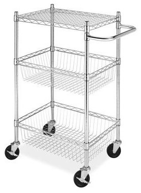 Commercial 3 Tier Basket Cart contemporary-kitchen-islands-and-kitchen-carts