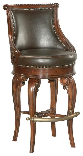 Tatum Swivel Barstool Dark Leather Traditional Bar  : traditional bar stools and counter stools from houzz.com size 340 x 640 jpeg 59kB