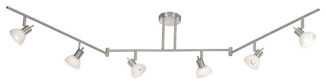 Vaxcel SP53566SN 6-Light Swing Track Bar Satin Nickel contemporary-track-lighting