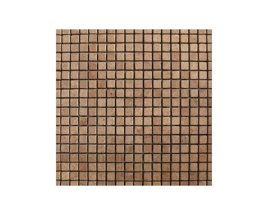 "1.5""x1.5"" Inca Gold Tumbled Natural Stone Mosaic -"