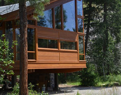 Mazama House Under Construction modern-exterior