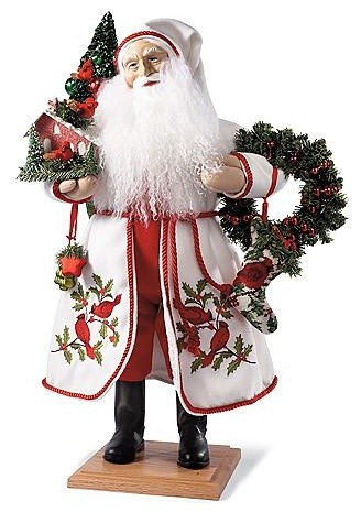 Red Celebration Santa Figure - Christmas Decorations traditional-holiday-decorations