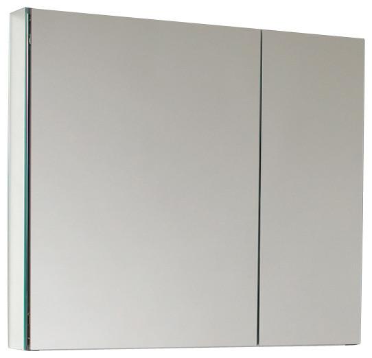 "Fresca 30"" Wide Bathroom Medicine Cabinet w/ Mirrors - Modern - Medicine Cabinets - by Luxury ..."