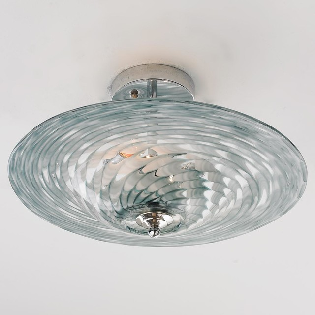 Tornado art glass ceiling light flush mount ceiling - Clear glass ceiling light ...