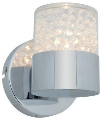 Access Lighting Kristal Bathroom Wall Sconce - 4.75W in. Chrome modern-lighting