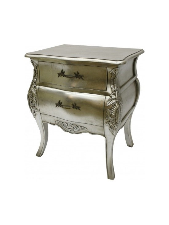 Chichi Furniture Exclusives. - A stunning French Bordeaux bedside table. Beautifully hand carved legs, and fine curves, this piece of furniture would usually showcase in either in the bedroom, hallway or lounge.