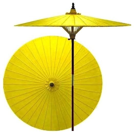 7 ft. Tall Lemon Patio Umbrella asian-outdoor-umbrellas