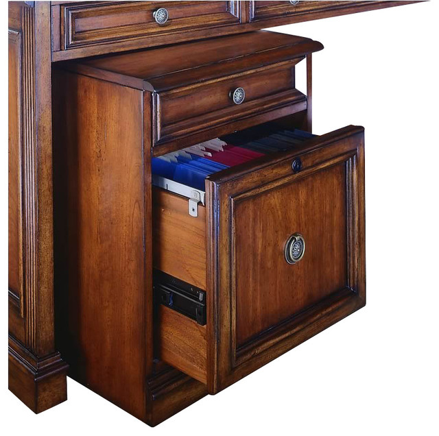 Hooker Furniture Brookhaven Mobile File in Cherry Finish - Transitional - Filing Cabinets And ...