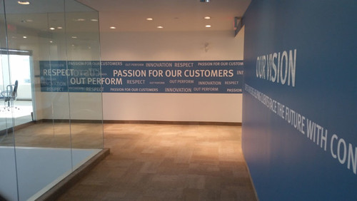 Company mission statements painted