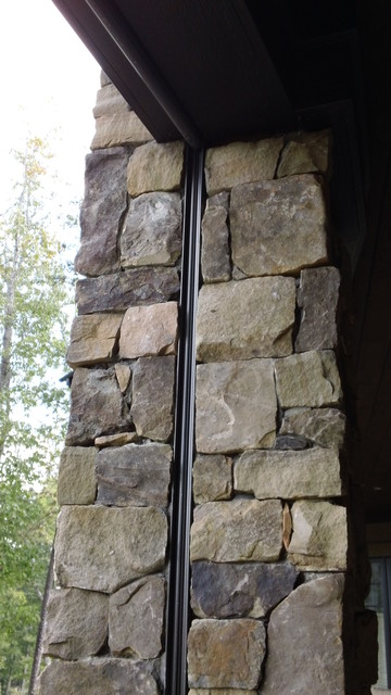 Stone columns traditional outdoor space