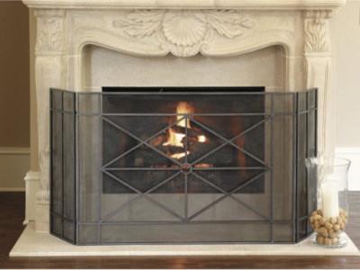 Rivoli fireplace screen traditional fireplace screens by ballard designs - Houzz fireplace screens ...