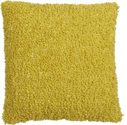 "Aubree Boucle Yellow 18"" Pillow contemporary-decorative-pillows"