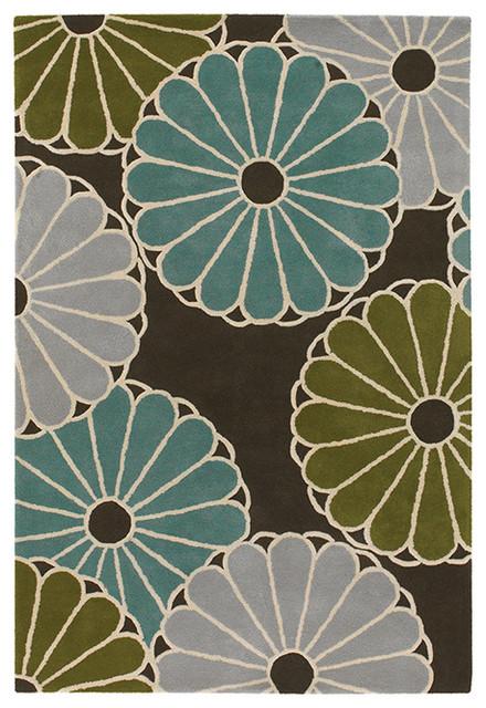Parasoles Wool Pile Rug - Aqua - Thomas Paul contemporary-rugs