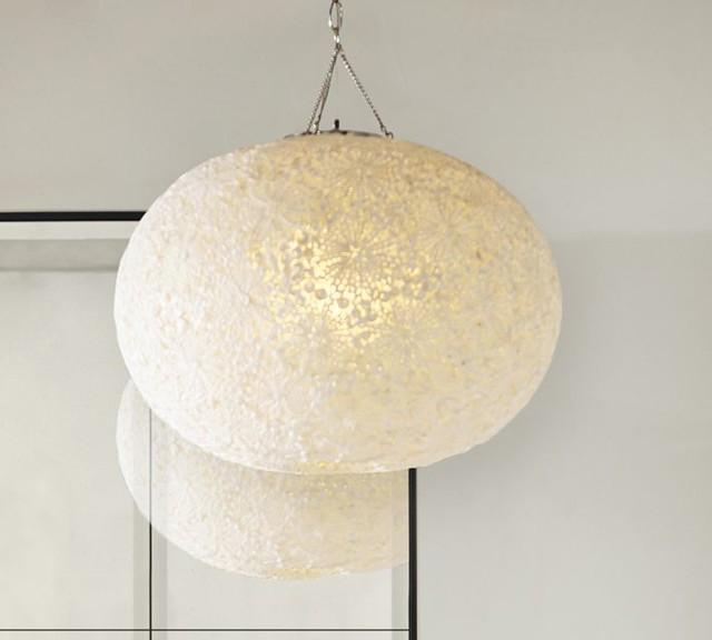 Kai Shell Pendant Contemporary Pendant Lighting Sacramento By Pottery