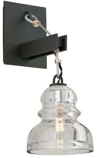 troy lighting b3971 menlo park 1 light wall sconce with glass. Black Bedroom Furniture Sets. Home Design Ideas