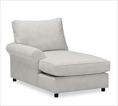 PB Comfort Roll Arm Upholstered Left Arm Chaise Box Polyester Wrap Cushions