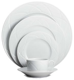 Haviland Claire De Lune Diamond 5-Piece Place Setting contemporary-dinnerware-sets