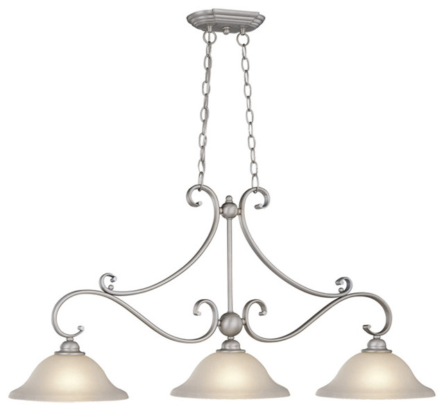 Vaxcel Pd35413bn Monrovia Kitchen Island Brushed Nickel Transitional Pendant Lighting By