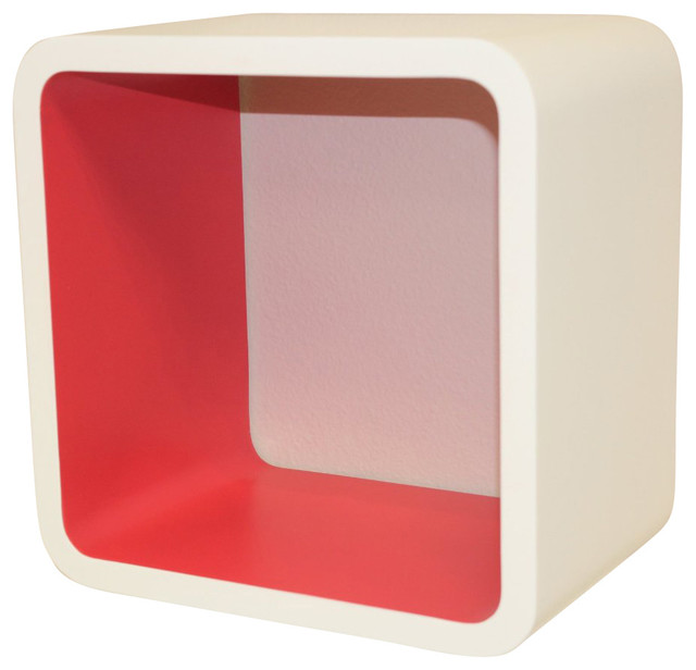 Cosmos Wall Cube Display Shelves, Red modern-display-and-wall-shelves