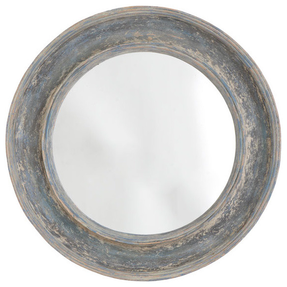 Round Seaside Mirror traditional