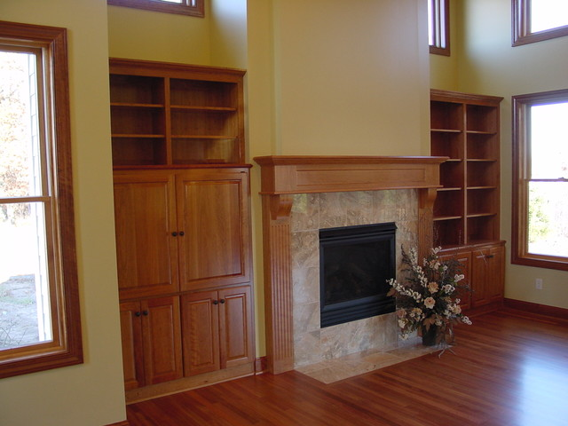 FIreplaces traditional-living-room