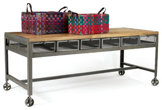 outstanding industrial kitchen island table | Metropolitan Table - Industrial - Kitchen Islands And ...