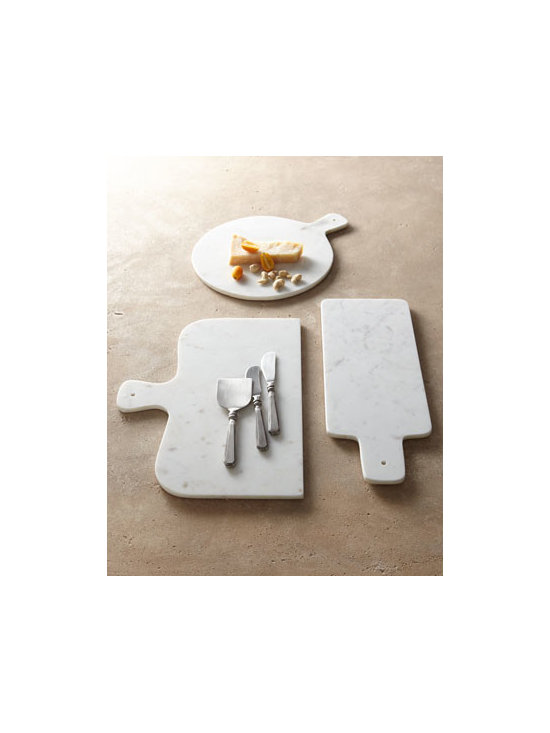 "Park Hill Collections - Park Hill Collections Antiqued-Silver Cheese Servers & Marble Cheese Boards - A nice mix of modern and vintage style, these cheese boards and servers add a touch of sophistication to entertaining. ""Tool marks"" and other imperfections give the pewter-look servers true vintage appeal. Three-piece cheese server set made of brass an..."