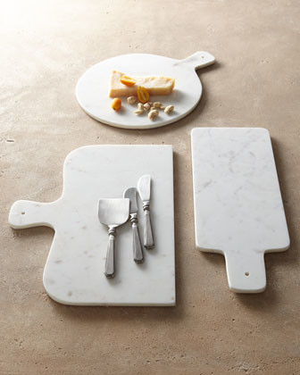 Park Hill Collections Antiqued-Silver Cheese Servers & Marble Cheese Boards traditional-cutting-boards