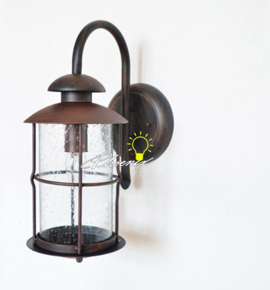 Antique Iron and Bubble Glass Wall Sconce in Baking Finish - Contemporary - Wall Sconces - new ...