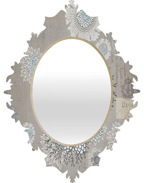 Iveta Abolina French Blue Baroque Mirror contemporary-wall-mirrors