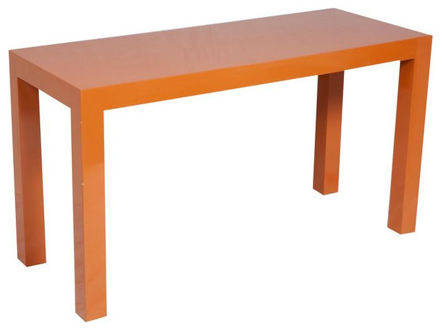 SOLD OUT! Persimmon Parsons Table - $3,125 Est. Retail - $499 on Chairish.com contemporary-side-tables-and-end-tables
