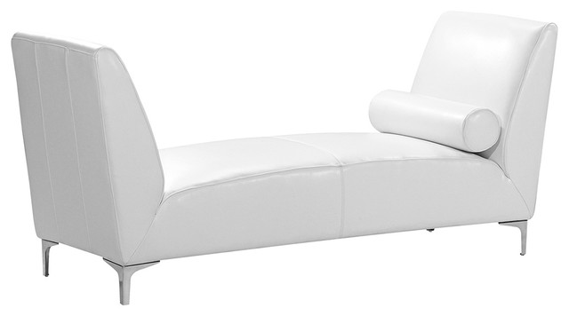 atlas white leather bench sofa contemporary upholstered benches
