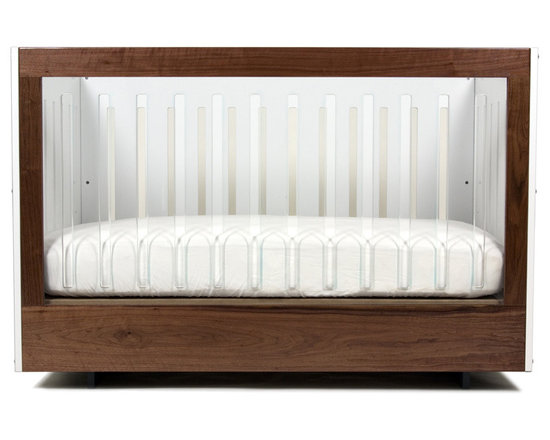 Roh Crib - This crib is great because you get the classic look of walnut mixed with the modern clear sides.