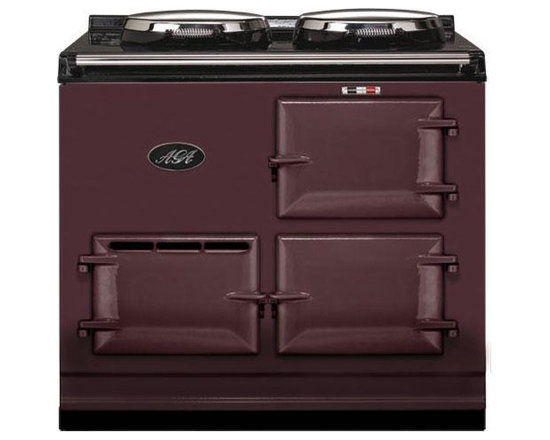 AGA 2 Oven Natural Gas Cooker With Module, Aubergine | A2O-DV-MOD-NG-AUB - The 2-oven AGA cooker provides a truly unique and rewarding cooking experience. With 2 radiant-heat ovens and two hotplates this cooker was designed to accommodate even the busiest of families.