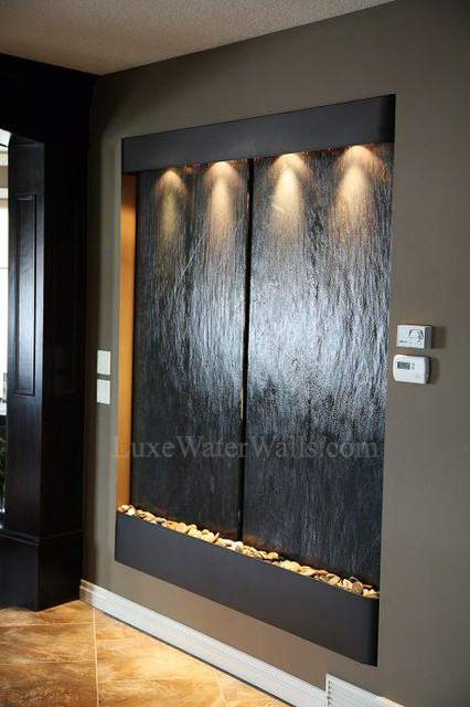 Interior Water Wall H2o Designs Installed A Water Wall To Provide