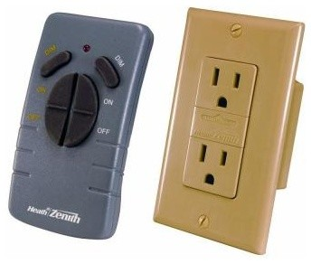Heath Zenith Wireless Lighting Remote Receptacle Set Ivory SL-6020