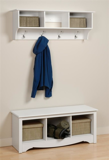 Entryway Home Cubbies Bench And Shelf Set Contemporary
