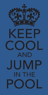 Keep Cool and Jump in the Pool wall-decals