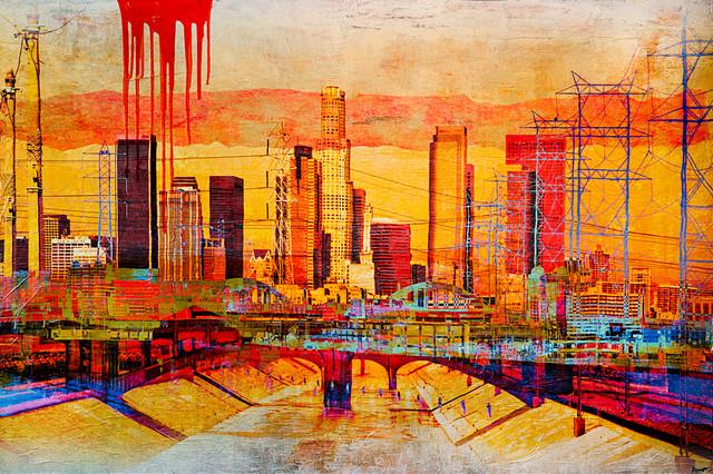 Los Angeles Skyline Contemporary Artwork Los Angeles