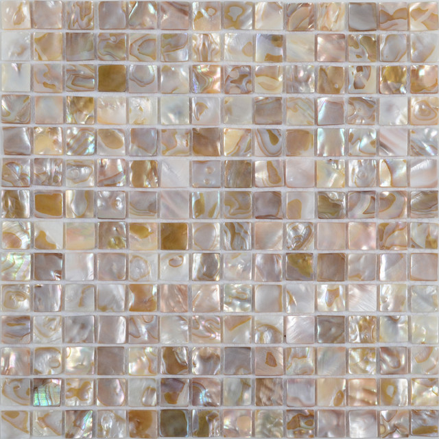 Colorful Mother Of Pearl Tiles Shell Tiles Modern Tile