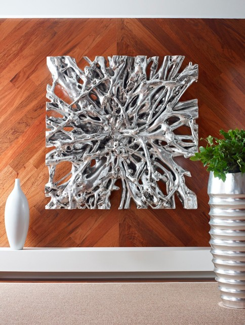 Square Root Wall Sculpture Contemporary