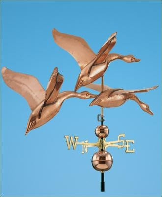 Geese in Flight Weathervane traditional-weather-vanes