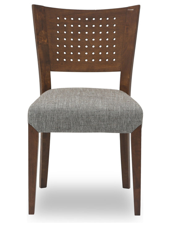 Bryght - Myroyce Fabric Upholstered Dining Chair - The Myroyce dining chair combines vintage style with practical design. Its classic outlook compliments its contemporary undertones with its intricately designed wooden back and plush wide seat in an elegant coral hue. The Myroyce dining chair is ideal for everyday use and longer sittings alike.
