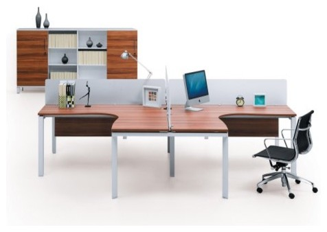 The Ergo Office Double L Shaped Computer Desk Modern Desks And Hutches By Hayneedle