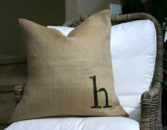 Square Initial pillow | My Sparrow  pillows
