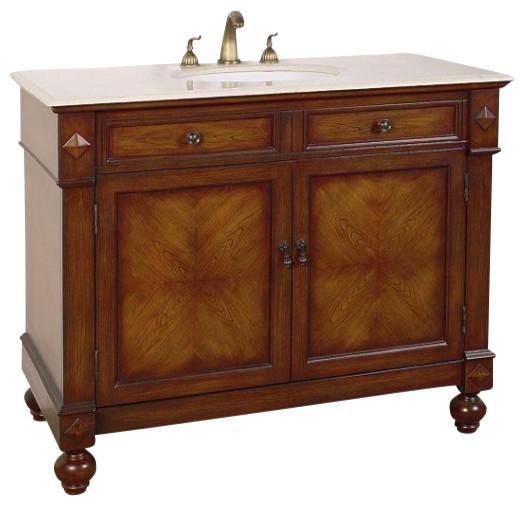 42 inch traditional single sink bathroom vanity