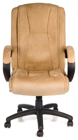 Padded High-Back Faux Suede Executive Chair modern-task-chairs