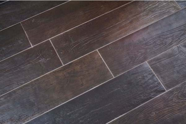 Provenza lignes wood look porcelain tile eclectic for Hardwood floor tile kitchen