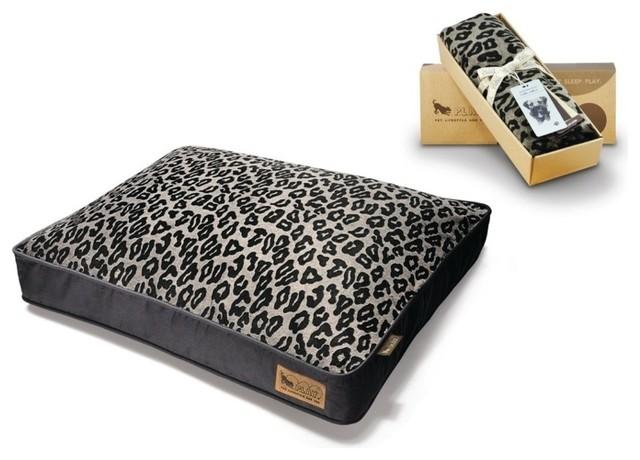 P.L.A.Y. Serengeti Rectangular Bed Cover Copper/Dark Grey Large modern-pet-supplies