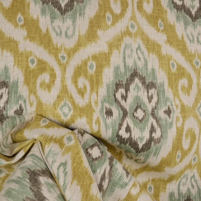 Ubud Opal Iman Turqouis Ikat Fabric Traditional